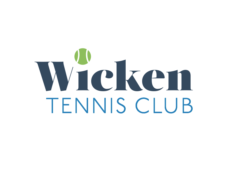 Wicken Tennis Club logo idea village sport ball club tennis branding wicken logo