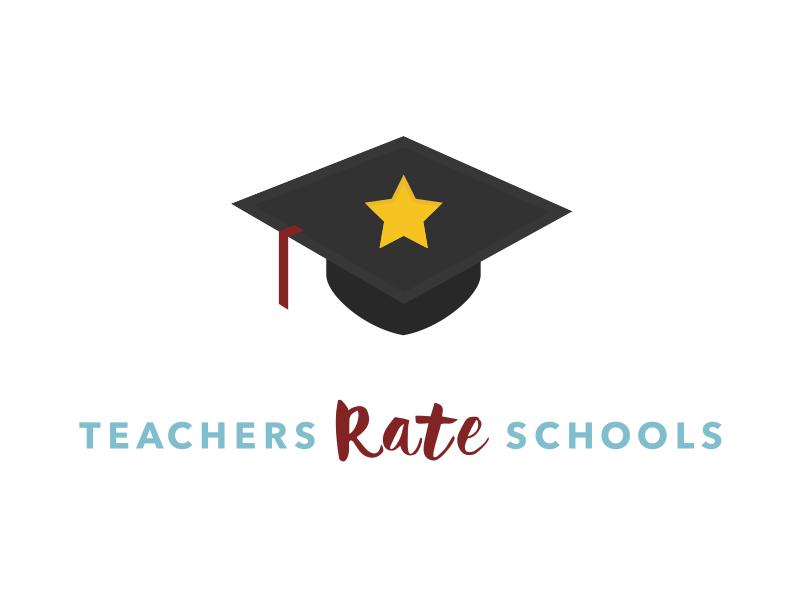 Logo concept for new brand cap hat graduation star branding brand rating rate school teachers flat logo