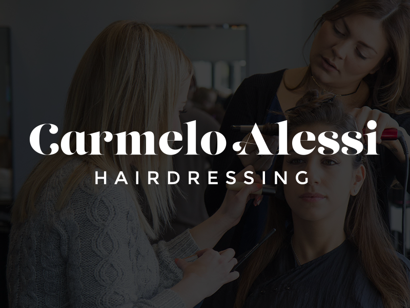 A quick logo for an old client – Carmelo Alessi Hairdressing typography branding decorative sans serif serif hairdressers hairdressing salon hair type logo