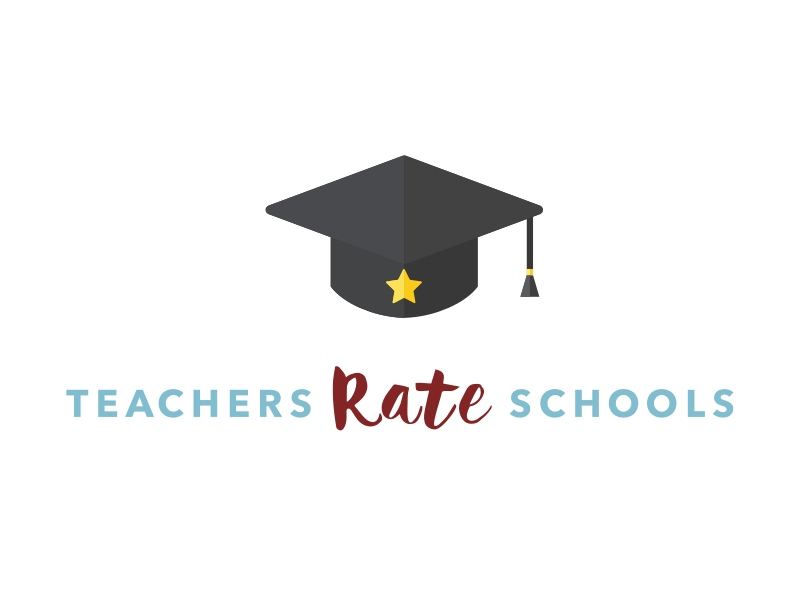 Teachers Rate Schools - approved logo cap hat graduation star branding brand rating rate school teachers flat logo