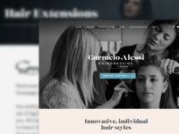 Hair Salon website – home and other page designs