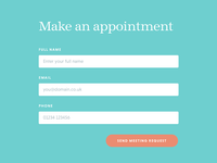 Make an appointment - modal form