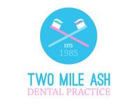 Two Mile Ash Dental Practice - logo 02b logo dentist dental branding icon toothbrush ostrich sans chaparral pro