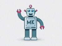 MiKe the robot, the MK Geek Night mascot (tweaked)