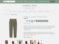 Online shop product page for new British Fashion Boutique
