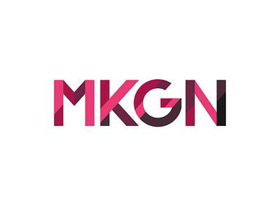 MK Geek Night Logo V2 vector typography design logo