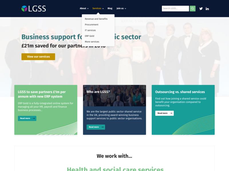 LGSS Website web design website