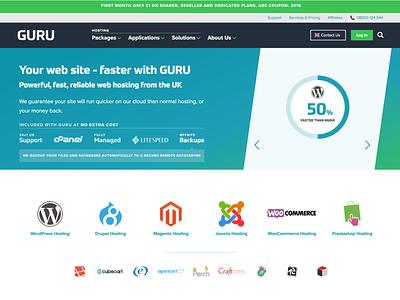 GURU Website and Branding illustration home typography web design website logo