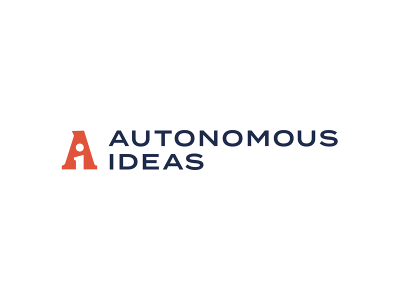 Autonomous Ideas Logo vector illustration icon branding typography design logo