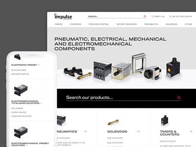 Impulse Automation Website Re-design ux technical navigation homepage home ui web design website