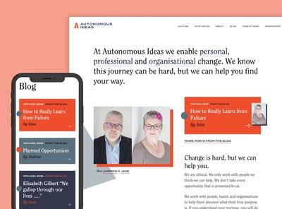 Autonomous Ideas Website
