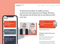 Autonomous Ideas Website responsive branding navigation logo ui homepage home typography web design website