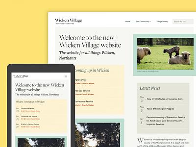 Wicken Village Website community village repsonsive homepage home typography design web website