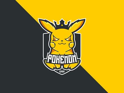 POKEMON esport logo esports logo esport tshirt branding brand design brand identity cleanlogo bikinlogo logodesign design selllogo logo