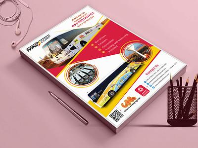 Wyndcorp flyer logo branding typography type illustrator graphic design illustration design