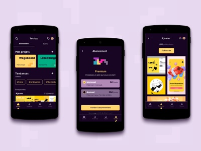 Tetrizzz App - Stay up to date and organized. application app design ux conception webdesign uidesign figma ui