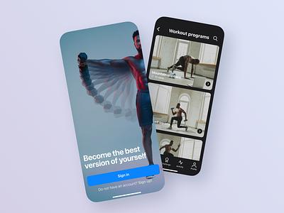 Home Fitness mobile app concept fitness workout sport webdesign app ui ux mobile concept user experience design