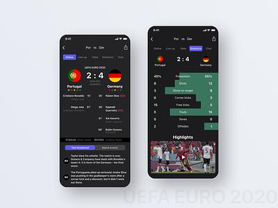 Football App app mobile football sport design