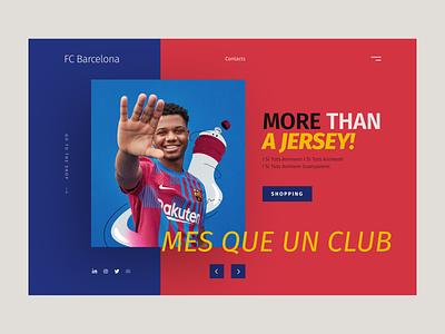 FC Barcelona promo shop 21/22 promo concept user experience design football shot shop ux ui