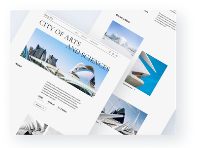 City of Arts and Sciences. Valencia / Website concept user interface website design user experience concept ux ui