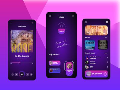 Music Player - App design typography 2021 branding designers design app ux uiux uxdesign uidesign