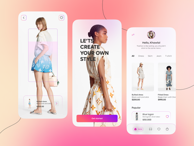 Fashion Mobile App 👒 fashionapp apps design 2021 uiconcept uiux designer popular design popular shot gradient inspiration trendy uidesign design designers app ux ui uiux uxdesign