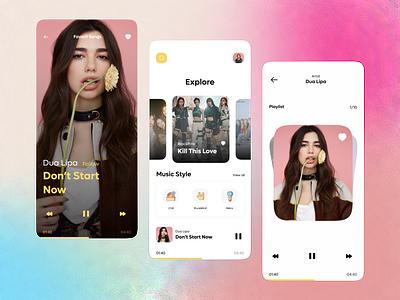 Music Player App 🎵 uiuxdesigners uiapp uiuxdesign uidesign uitrend uipopular uiux uiconcept music 3d