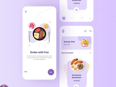 Food Mobile App 🍲 uiinspiration uitrend branding ui design uxdesign trendy app ux uiux uidesign designers