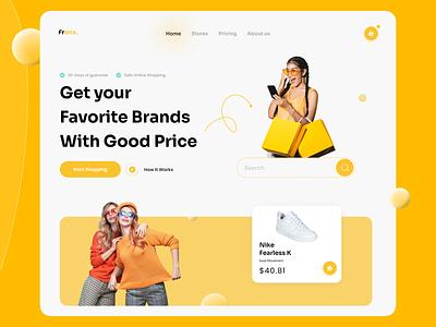Shopping Site web design 👗 landingpage inspiration dribbblers popular uitrend uiuxdeveloper site shoppingwebsite orange colors games webdesign uxdesign design trendy uidesign uiux designers