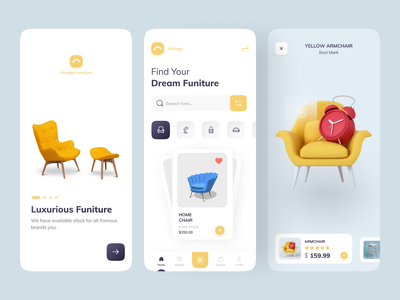 Furniture e-commerce App monday uidesigners uiuxdesign furnituredesign ecommercial appdesign uiudesing branding maroccancommunity populardesign furniture uiux uxdesign app ux design trendy uidesign ui