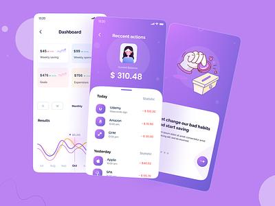 Wallet app concept 💰 trendingdesigns dashboard wallet branding ui design app uxdesign ux trendy designers uiux uidesign