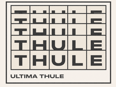 THULE saint-petersburg mystic typography design ui