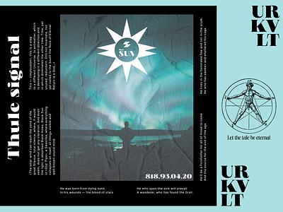 Thule signal typography mystic ui design