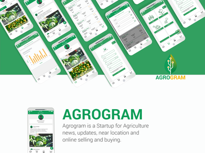 Agrogram logo illustration figma app website ux signup design ui web adobexd