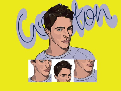 Digital Potrait- colton Haynes drawing coltonhaynes ai potrait digital art digitalart vector design illustration