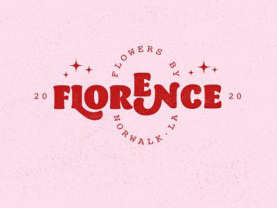 flowers by florence logo design branding barracuda retro typedesign typogaphy typeface logotype florist florist branding florist logo branding design logo design branding logodesign logo design logo