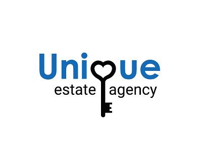 Unique Estate Agency branding logo