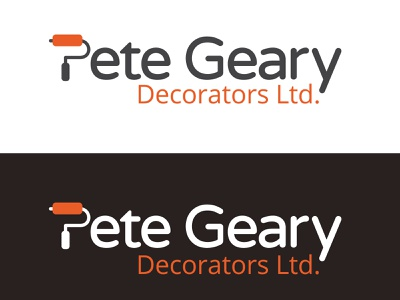 Pete Geary Decorators branding logo