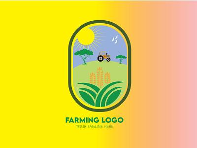 FARMING LOGO, NATURE LOGO design startup apps icon farming logo dribbble branding web design graphic design logos wheat environment green typography nature vector illustration ui brand identity logo farm logo