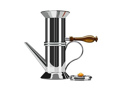 Neapolitan coffee maker steel wood design krotalon concept artifact coffee coffee maker