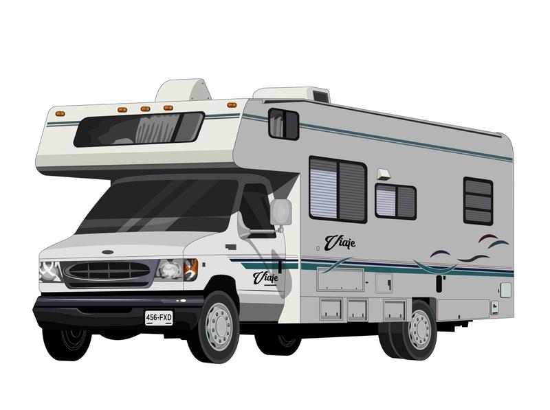 Camper design camping family trip vehicle vehicle design krotalon illustration transporter transports camper