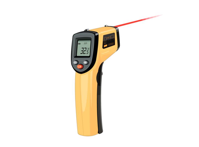 Pistola de temperatura sintomas enfermedad medición temperatura calentura