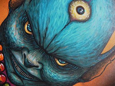 Blue Demon illustration workart brushes acrylic threeyes demon krotalon