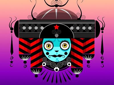 Blue Queen krotalon crown blue queen adobe illustrator digital illustration