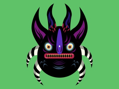 Monster number one horns monsters méxico krotalon imagination digital ink monster
