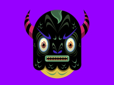 Little Monster 5 horns monsters méxico krotalon imagination digital ink monster