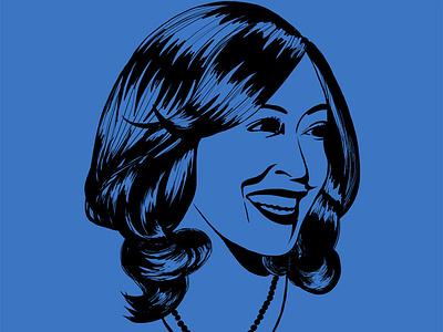 Kamala Harris - I'm Speaking illustration digital stencil art illustration art illustration