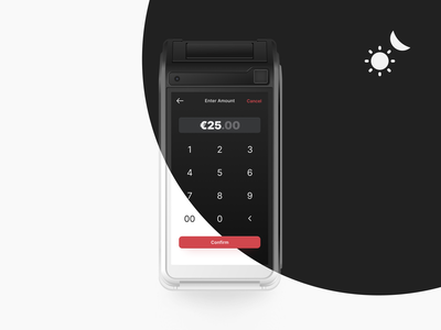 Dark & Lark Mode for the Payment App gif lark mode dark simple android ui point of sale debut