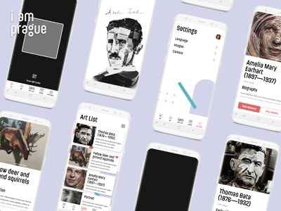 Concept of the App for Illusion Art Museum in Prague ui design product design concept illusions art museum mp4 animation lark dark android application mobile ui simple