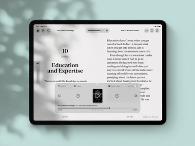 Kindle & Audible Integration | Lark ibooks kindle audible lark simple user interface ipad app prototype protopie ux ui audio book book ipados ipad pro ipad